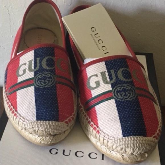 GUCCI Shoes - SOLD! GUCCI Canvas Espadrilles NWT